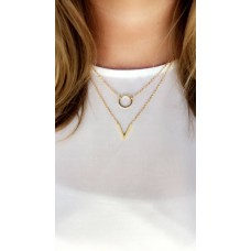 V-ketting gold plated
