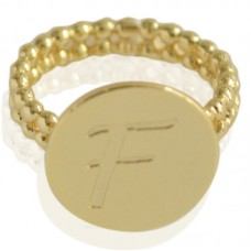 Gold plated ring met letter